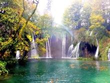 The stunning waterfalls of Plitvice Park in Croatia