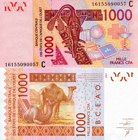 Burkina Faso 1,000 Francs 2016