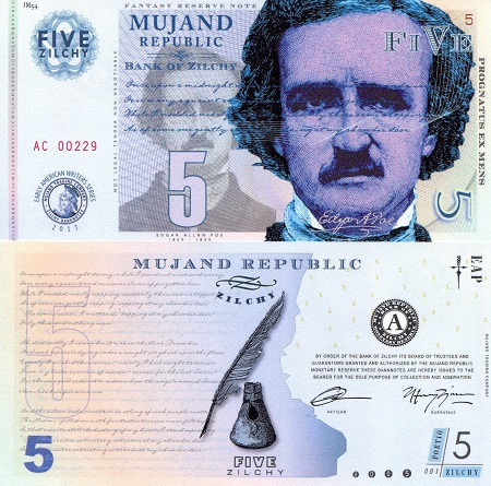 Mujand Note featuring Edgar Alan Poe