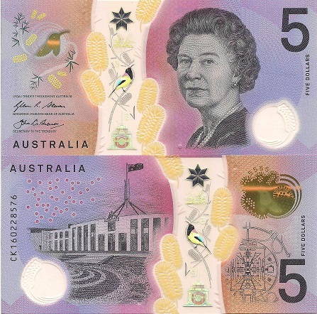 Australia 5 Dollars Banknote