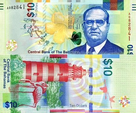 Bahamas 10 Dollar Banknote