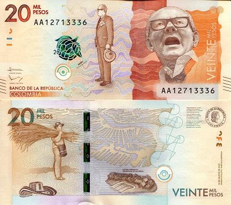 Colombia 20,000 Pesos (Spark Security)