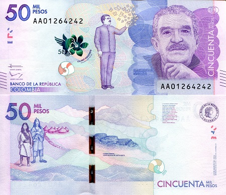 Colombia 50,000 Pesos