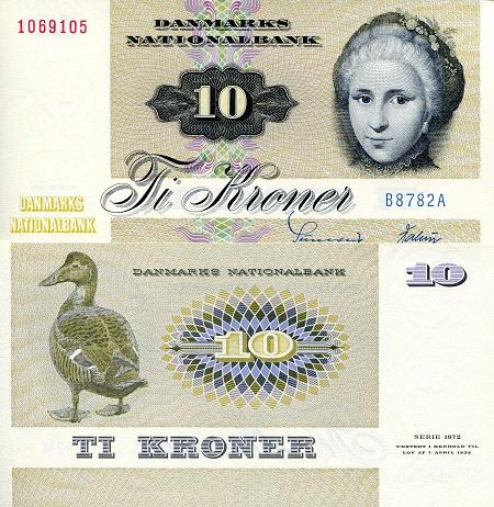 Denmark 10 Kroner (1978)