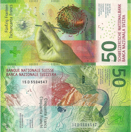 Switzerland 50 Francs Banknote