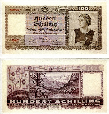 Austria 100 Shillings Reprint