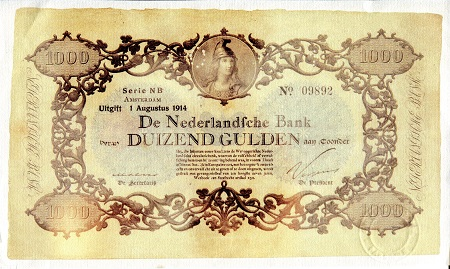 Netherlands 1,000 Gulden (1914) - Reprint