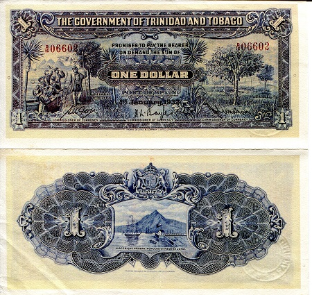 Trinidad and Tobago 1 Dollar (1932) - Reprint