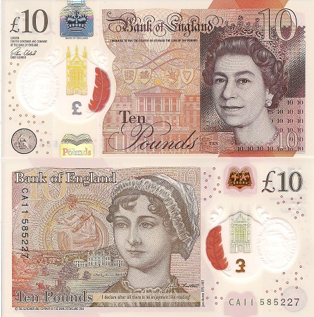 English 10 Pound Note (2017)