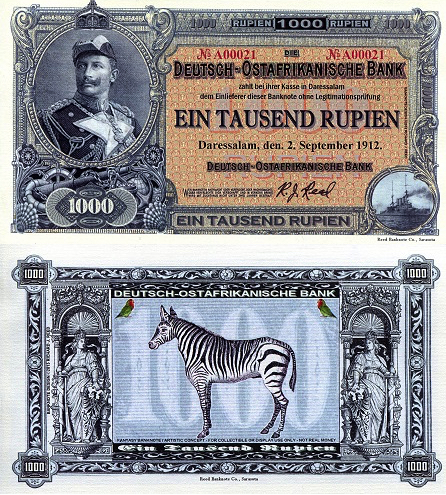 German East Africa Fun Note