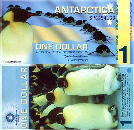 Antarctica One Dollar fun note