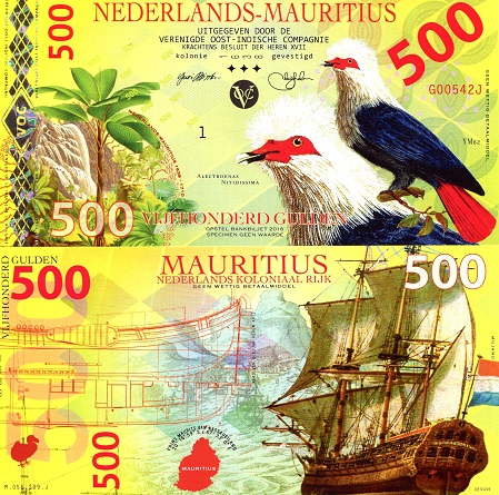 Netherlands Mauritius 500 Gulden note by Mujand
