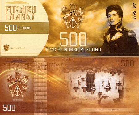 Pitcairn Islands 500 Pound fun note