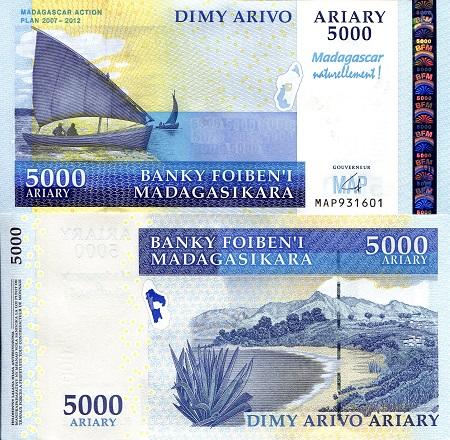 Madagascar 5,000 Ariary p 94 (B331)