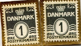 Danish 1 Ore Stamp Note