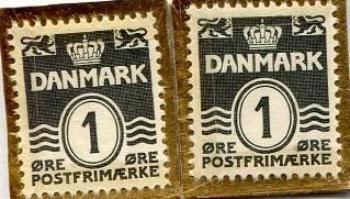 Danish 1 Ore Stamp Note
