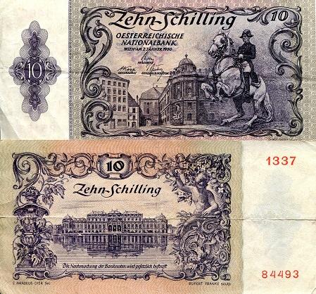 smallaustria10shillingsp127-1950vg