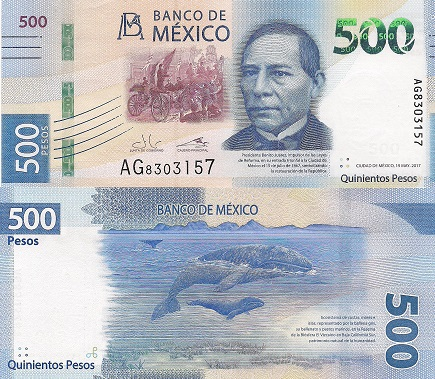 Mexico 500 Peso Note