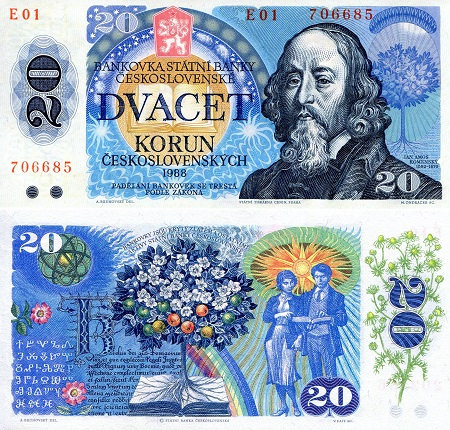 Czech 20 Korun UNC Note