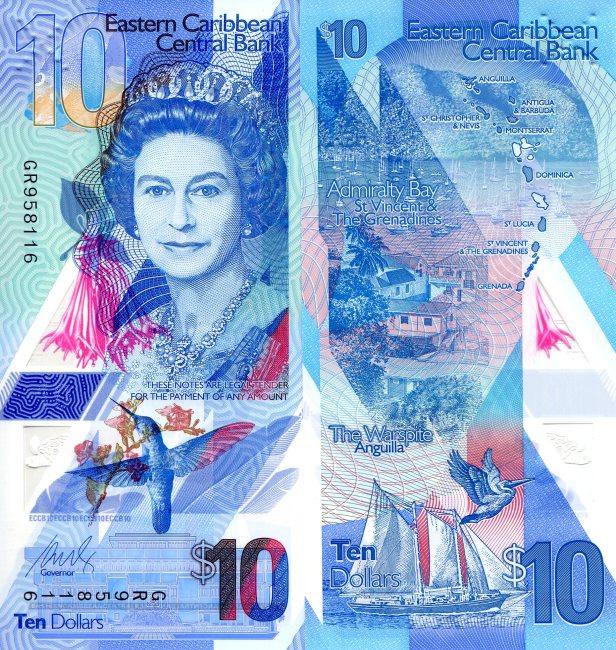 Eastern Caribbean States 10 Dollar